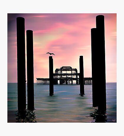 West Pier Silhouette Photographic Print