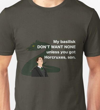 Lord Horcrux-A-Lot and his Basilisk Unisex T-Shirt