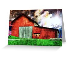 Lil Red Barn Greeting Card