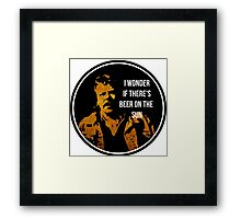 Zap Rowsdower - BEER QUOTE Framed Print