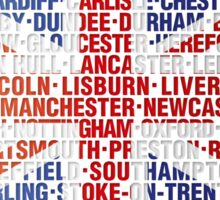 UK CITY NAMES FLAG Sticker