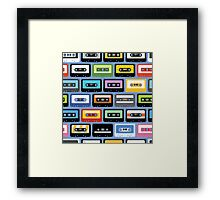 Mixed Tapes Framed Print