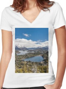 Patagonia (Argentina) Women's Fitted V-Neck T-Shirt