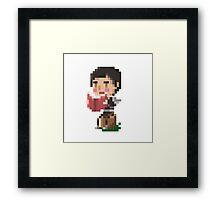 Pixel Cassad Framed Print