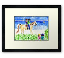 beach ride Framed Print