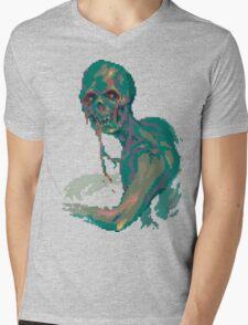 Pixel Zombie Mens V-Neck T-Shirt