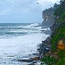 Rough seas at Dee Why by Antoine de Paauw