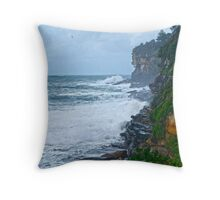 Rough seas at Dee Why Throw Pillow