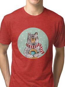 Winter Bear Tri-blend T-Shirt