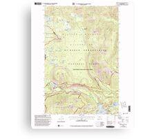 USGS Topo Map Washington State WA Spiral Butte 243898 2000 24000 Canvas Print