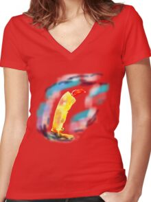 Candle in the Wind TEE SHIRT/BABY GROW/STICKER Women's Fitted V-Neck T-Shirt