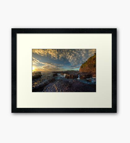 Kiama Morning Sunrise HDR v2 Framed Print