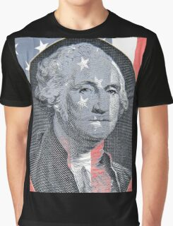 George Washington and Stars and Stripes Graphic T-Shirt