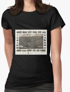 Panoramic Maps Bird's eye view of Wallingford Connecticut T-Shirt