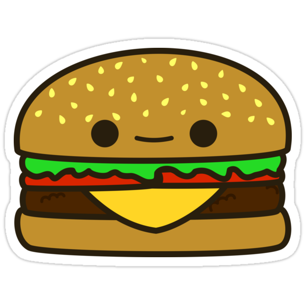 Quot Yummy Kawaii Burger Quot Stickers By Peppermintpopuk Redbubble
