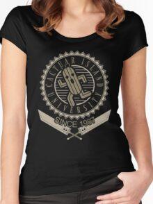 Cactuar university Women's Fitted Scoop T-Shirt