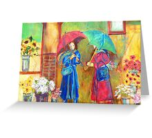 RAINY MARKET DAY Greeting Card