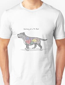 Anatomy of a Pit Bull Unisex T-Shirt