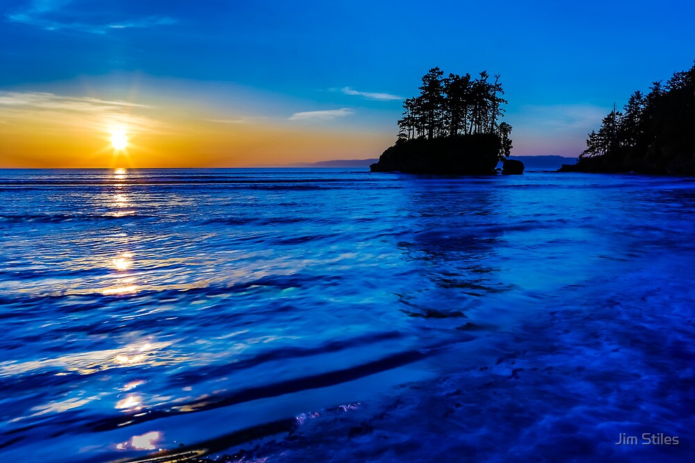 Salish Sea Sunset by Jim Stiles