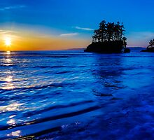 Salish Sea Sunset by Jim Stiles