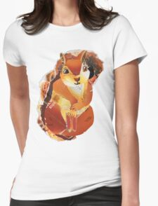 Red Squirrel Womens Fitted T-Shirt