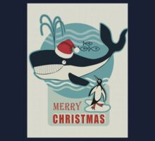 Santa Claus and the Whale.... Baby Tee
