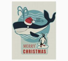 Santa Claus and the Whale.... One Piece - Short Sleeve