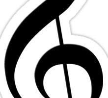treble clef Sticker