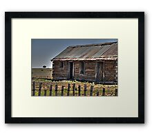 Old Shack and Lone Tree Framed Print