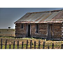 Old Shack and Lone Tree Photographic Print