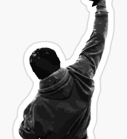 Never give UP! Rocky Balboa Sticker