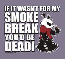 Pissed OFF Panda Smoke Break by Frankenstylin