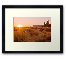First light in Monument valley Framed Print