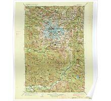 USGS Topo Map Washington State WA Mt Rainier 242669 1928 125000 Poster