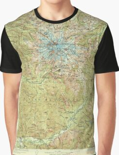 USGS Topo Map Washington State WA Mt Rainier 242669 1928 125000 Graphic T-Shirt