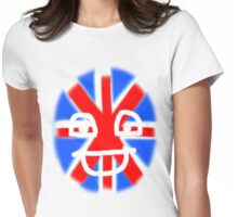 HAPPY UNION JACK TEE SHIRT/BABY GROW/STICKER Womens Fitted T-Shirt