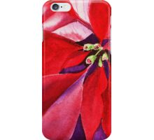 Christmas Red Poinsettia  iPhone Case/Skin