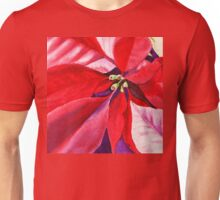 Christmas Red Poinsettia  Unisex T-Shirt