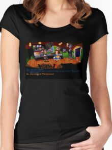 Maniac Mansion - Day of the Tentacle #01 Women's Fitted Scoop T-Shirt