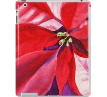 Christmas Red Poinsettia  iPad Case/Skin