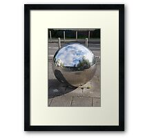 Silver Sphere Framed Print