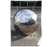 Silver Sphere Poster