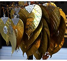 gold leaves Photographic Print