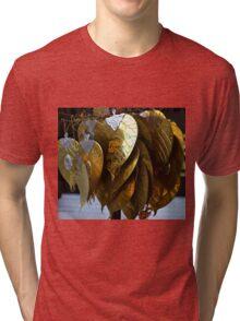 gold leaves Tri-blend T-Shirt