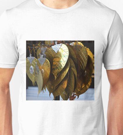 gold leaves Unisex T-Shirt