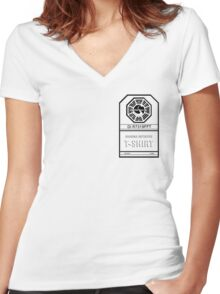 LOST Dharma Initiative Women's Fitted V-Neck T-Shirt