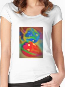 Dreamy peppers abstract Women's Fitted Scoop T-Shirt