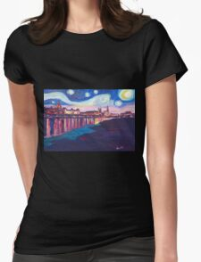 Starry Night in Dresden Womens Fitted T-Shirt