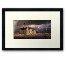 Storm Over Ruin Framed Print