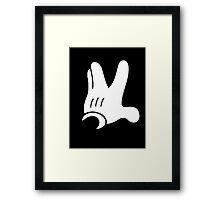 Trekkie hand fingers Framed Print